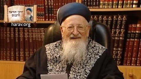 """ברכת לישב בסוכה: הראשון לציון הרב מרדכי אליהו זצוק""""ל"""